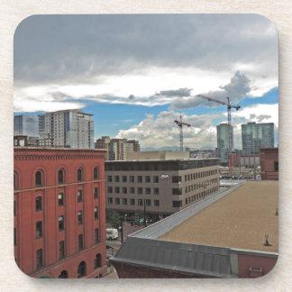 Construction in Downtown Denver Colorado Drink Coaster