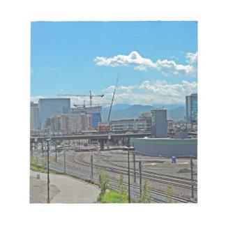 Construction in Downtown Denver Colorado Memo Notepads