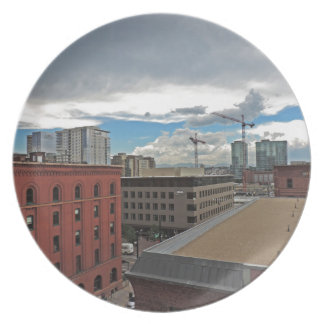 Construction in Downtown Denver Colorado Plate