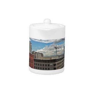 Construction in Downtown Denver Colorado Teapot
