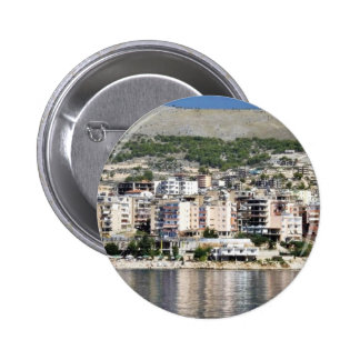 Construction In Sarande Town In Albania Buttons