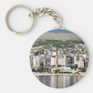 Construction In Sarande Town In Albania Key Chains