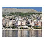 Construction In Sarande Town In Albania Postcard