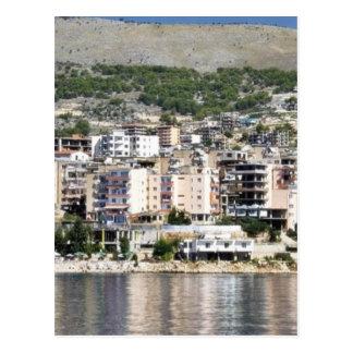 Construction In Sarande Town In Albania Postcard