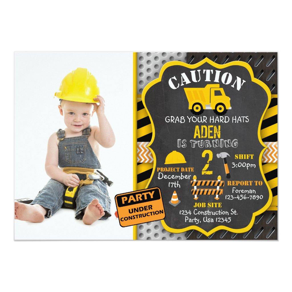 Construction Invitation | Dump Truck | Photo