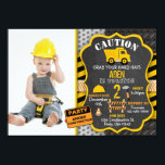 "Construction Invitation | Dump Truck | Photo<br><div class=""desc"">Grab your hard hats! It&#39;s time to party. This construction theme invitation will be perfect for your little digger.</div>"
