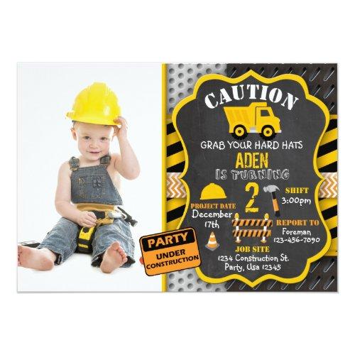 Construction Invitation  Dump Truck  Photo