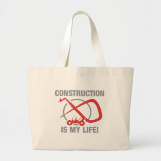 Construction is my life - forklift bag