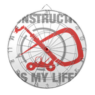 Construction is my life - forklift dart boards
