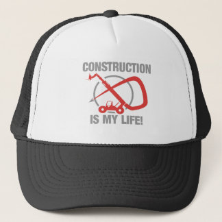 Construction is my life - forklift trucker hat