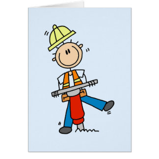 Construction Jack Hammer T-shirts and Gifts Card