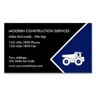 Construction Magnetic Business Card