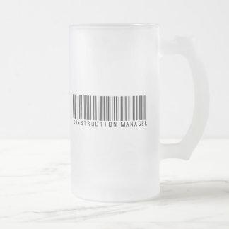 Construction Manager Bar Code Coffee Mugs