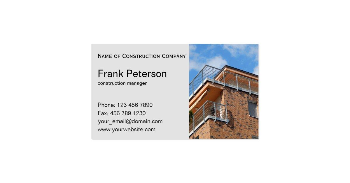 Construction Management Firm : Construction manager business card zazzle