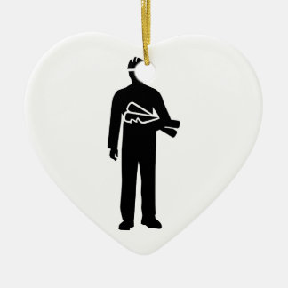 Construction manager ceramic ornament