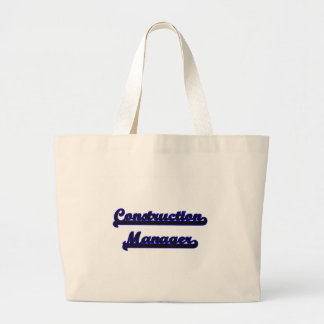 Construction Manager Classic Job Design Jumbo Tote Bag