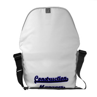 Construction Manager Classic Job Design Courier Bag