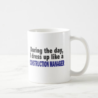 Construction Manager During The Day Classic White Coffee Mug