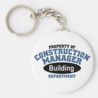 Construction Manager Keychains