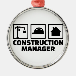 Construction manager metal ornament