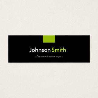 Construction Manager - Mint Green Compact Mini Business Card