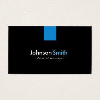 Construction Manager Modern Aqua Blue Business Card