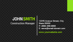 Construction business cards 4400 construction business card templates construction manager modern twill grid business card colourmoves