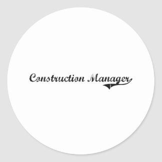 Construction Manager Professional Job Classic Round Sticker