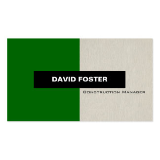 Construction Manager - Simple Elegant Stylish Business Card
