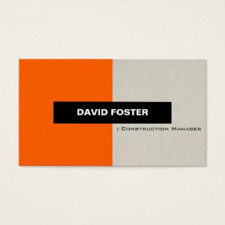 Construction Manager - Simple Elegant Stylish Business Card