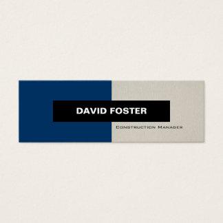 Construction Manager - Simple Elegant Stylish Mini Business Card