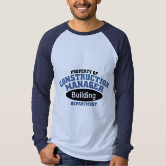 Construction Manager Tee Shirt