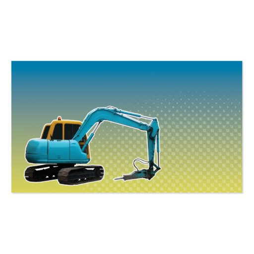 Construction Mechanical Digger Excavator Business Cards