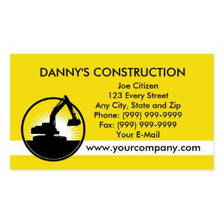 construction mechanical digger excavator business card