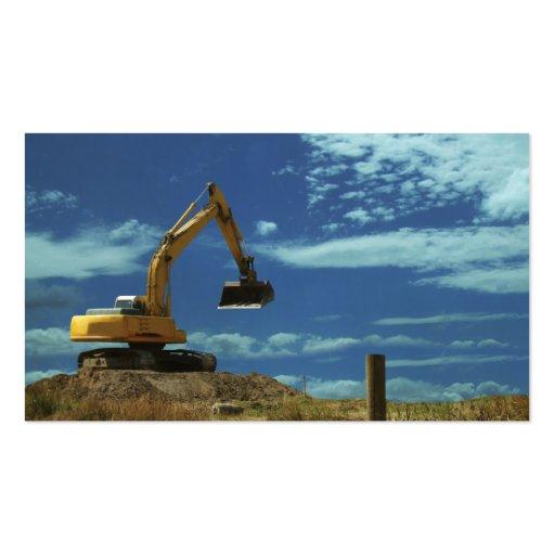 Construction mechanical digger heavy equipment business for Heavy equipment business cards