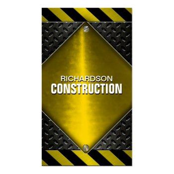 Construction Metal Business Card - Black Yellow