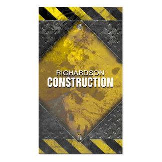 Construction Metal Business Card Black Yellow Rust