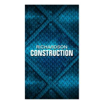 Construction Metal Business Card - Blue Steel