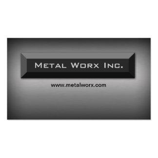 Construction Metal Business Card Title Box