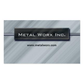 Construction Metal Business Card Title Box Chrome