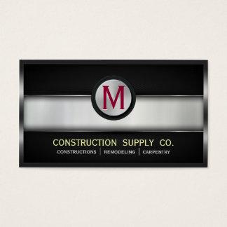 Construction Metal Framed Monogram Metal Grids Business Card