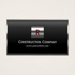 Construction business cards 4400 construction business card construction metal framed monogram professional business card colourmoves
