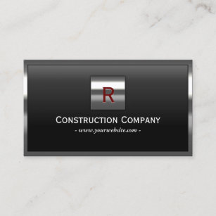 Construction business cards 4400 construction business card templates construction metal framed monogram professional business card colourmoves