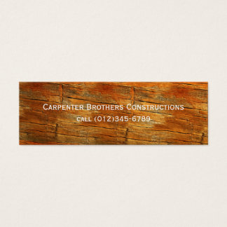 construction mini business card