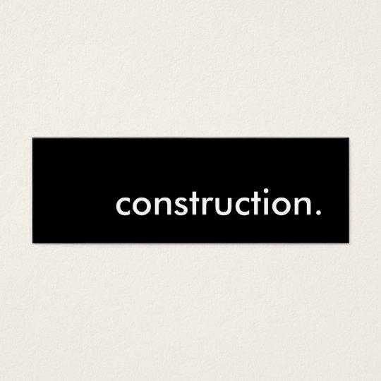 construction. mini business card