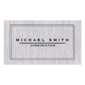Construction Modern & Minimal Wood Texture Business Card