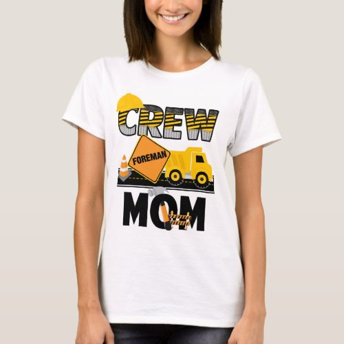 Construction Mom Shirt  Birthday Shirt Dump Truck