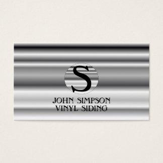 Construction  Monogram Business Cards
