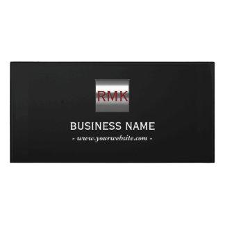 Construction Monogram Metal Steel Logo Modern Door Sign