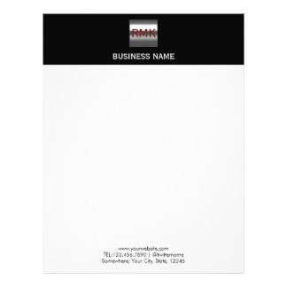 Construction Monogram Steel Metal Logo Modern Letterhead